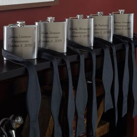 Personalized 5 Stainless Steel Flasks Groomsmen Gifts