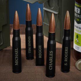 Engraved 50 Cal Bullet Groomsmen Bottle Openers Set of 5