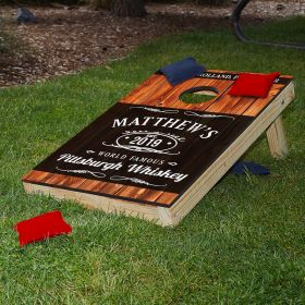 Famous Whiskey Personalized Cornhole Set