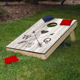 Whitby Crossed Arrows Personalized Bean Bag Toss for Weddings