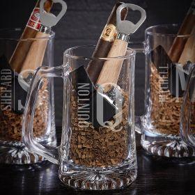 Elton Personalized Cigar & Beer Gift Set for Men