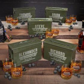 Maverick Personalized Ammo Can Modern Groomsmen Gifts – Set of 5