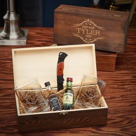 Wilshire Whiskey Custom Gift Box for Men