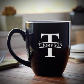 Oakmont Black Personalized Coffee Mug