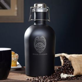Police Badge Custom Stainless Steel Coffee Carafe - Gift for Police