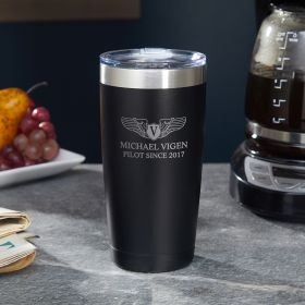 Take Flight Custom Tumbler – Pilot Gift