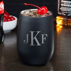 Classic Monogram Personalized Stainless Steel Tumbler