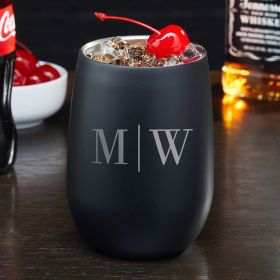 Quinton Blackout Personalized Cocktail Tumbler