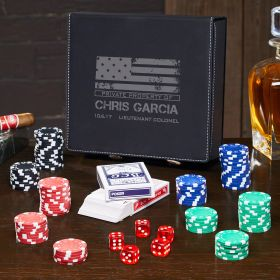 American Heroes Personalized Poker Set - Gift for Military