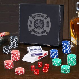 Fire & Rescue Custom Poker Set – Gift for Firefighters