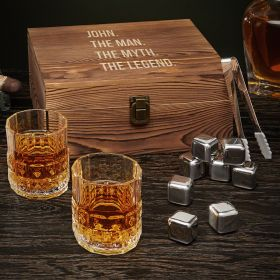 Man Myth Legend Personalized Whiskey Box Set