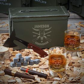 Midland Custom 50 Cal Whiskey Set - Gift for Cowboy