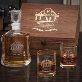 Rockefeller Personalized Whiskey Gift Set