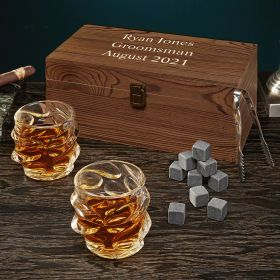 Personalized Whiskey Glass Set