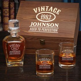 Aged to Perfection Engraved Men's Gift Set