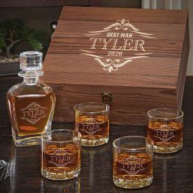 Wilshire Personalized Whiskey Gift Set