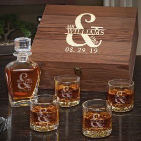 Love & Marriage Decanter Set – Personalized Gift for Couples