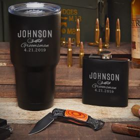 Eagle Eye Classic Groomsman Custom Tumbler Set – Gift for Groomsmen
