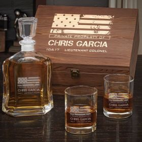 American Heroes Custom Whiskey Military Gift Set