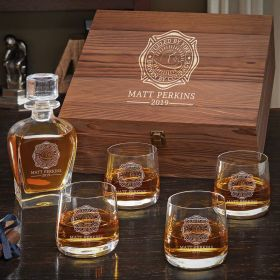 Fueled by Fire Whiskey Box Set - Gift for Firefighters