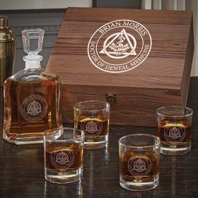 Dental Crest Personalized Whiskey Set - Gift for Dental Hygienist