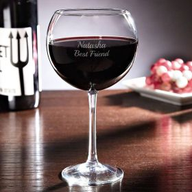 Personalized Red Wine Glass - 17oz