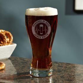 Powered by Beer Custom Pilsner Glass