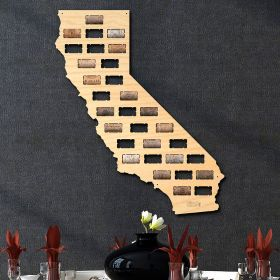 California Wine Cork Map
