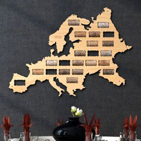 Europe Wine Cork Map