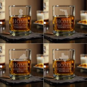 Personalized Whiskey Glass with Your Home State (All 50 Avail)
