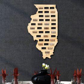 Illinois Wine Cork Map