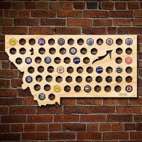 Montana Beer Cap Map