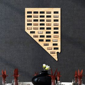 Nevada Wine Cork Map
