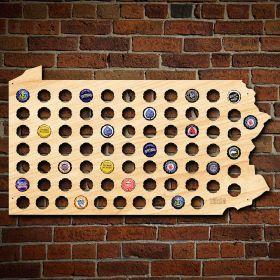 Beer Cap Maps Holders Styles - Indiana beer cap map