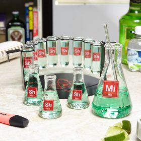 Mad Scientist Shot Glass Bar Set