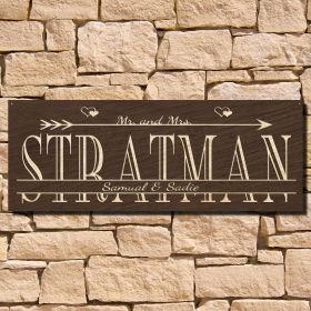Love-Struck Personalized Wall Hanging Sign (Signature Series)