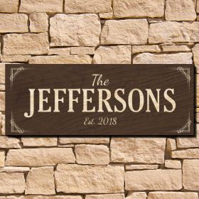Marston Family Name Wood Sign (Signature Series)