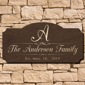 Mulheren Personalized Family Name Sign (Signature Series)