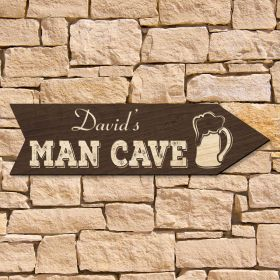 Show Me to The  Man Cave Custom Sign (Signature Series)
