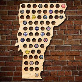 Vermont Beer Cap Map