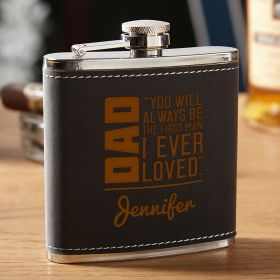 From Daughter to Dad Personalized Hip Flask