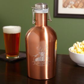 Outdoor Life Copper-Tone Custom Steel Beer Growler for Hunters