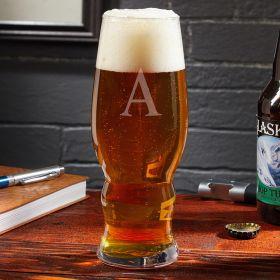 Single Initial Personalized IPA Glass