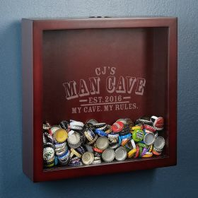 Man Cave Rules Beer Cap Collector Shadow Box