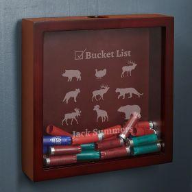 Bucket List Custom Shotgun Shell Shadow Box for Hunters