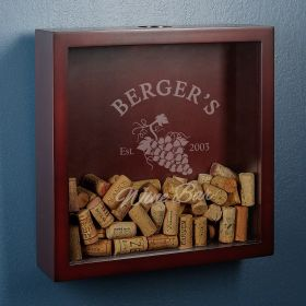 Sunset Vineyard Shadow Box Custom Made for Wine Corks