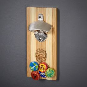 Police Badge Custom Magnetic Wall Mount Bottle Opener