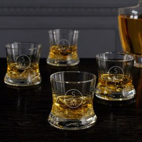 Emerson Custom Whiskey Glasses, Set of 4