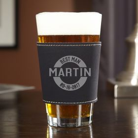 Arlo Personalized ThermaSleeve Pint Glass