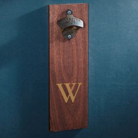 Personalized Wooden Wall Bottle Opener